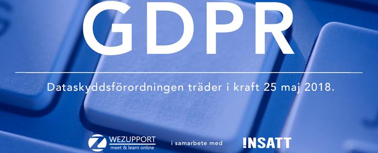 Vad innebär GDPR, Dataskyddsförordningen?